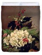 Christmas Roses Duvet Cover