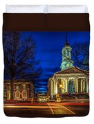 Christmas Small Town Duvet Cover