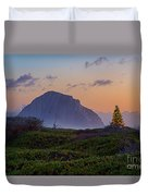 Christmas Time At The Rock Duvet Cover