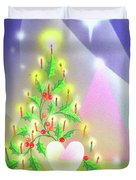 Christmas Tree And Colors Duvet Cover