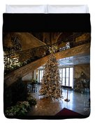 Christmas Tree And Staircase Marble House Newport Rhode Island Duvet Cover
