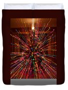Christmas Tree Colorful Abstract Duvet Cover