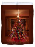 Christmas Tree Light Spikes Colorful Abstract Duvet Cover