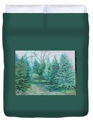 Christmas Tree Lot Duvet Cover