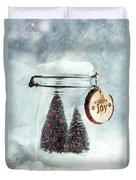 Christmas Tree Snowglobe Duvet Cover