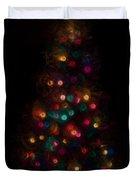 Christmas Tree Splatter Paint Abstract Duvet Cover