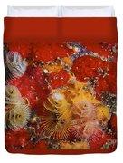 Christmas Tree Worms, Bonaire Duvet Cover