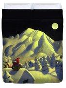 Christmas Under Olympus Duvet Cover