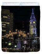 Christmas Village - Philadelphia Duvet Cover