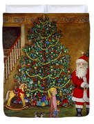 Christmas Visitor Duvet Cover by Linda Mears