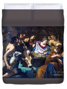 Christmas With The Shepherds Duvet Cover