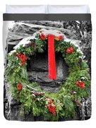 Christmas Wreath Duvet Cover