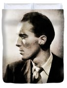 Christopher Lee, Vintage Actor Duvet Cover