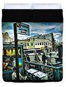Christopher Street Greenwich Village  Duvet Cover