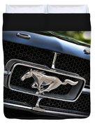 Chrome Stallion - Ford Mustang Duvet Cover