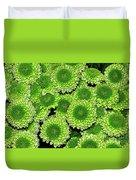 Chrysanthemum Green Button Pompon Kermit Duvet Cover