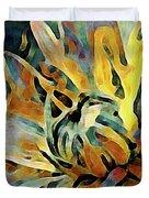 Chrysanthemum On Linen Duvet Cover by Susan Maxwell Schmidt