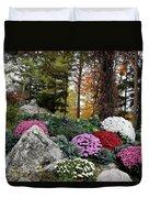 Chrysanthemums In The Garden Duvet Cover
