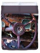 Chrysler Airflow Dashboard Painterly Impression Duvet Cover