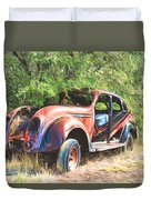 Chrysler Airflow Painterly Expression Duvet Cover
