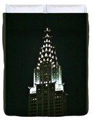 Chrysler Building In Manhattan New York City Duvet Cover
