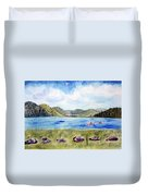 Chrystal Lake  Barton Vt  Duvet Cover