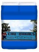 Chu - Mikals - Friendly Austin Texas Charm Duvet Cover
