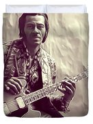 Chuck Berry, Music Legend Duvet Cover