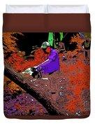 Chuck Chainsaw 2 Duvet Cover