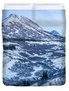 Chugach In Winter Twilight Duvet Cover