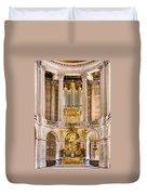 Church Altar Inside Palace Of Versailles Duvet Cover
