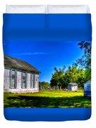 Church And Graveyard Duvet Cover