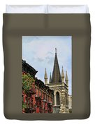 Church Architecture Older Nyc  Duvet Cover