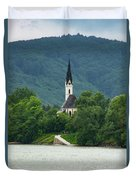 Church By The Danube Duvet Cover