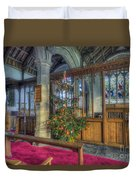 Church Christmas Tree Duvet Cover