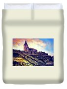 Church Dominant With Decorative Historical Staircase, Graphic Work From Painting. Duvet Cover