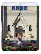 Church Entrance Cross Duvet Cover