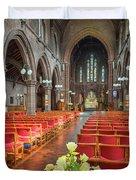 Church Flowers Duvet Cover