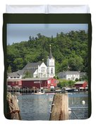Church In Boothbay Duvet Cover