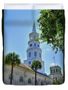 Church In Charleston Duvet Cover