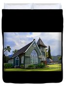 Church In Hanalei Kauai  Duvet Cover