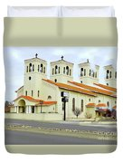 Church In New Mexico Multiplied Duvet Cover