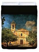 Church In Peillon Duvet Cover