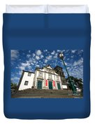 Church In Ribeira Grande Duvet Cover
