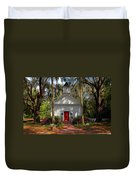 Church In Spring Duvet Cover