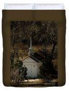 Church In The Garden Duvet Cover