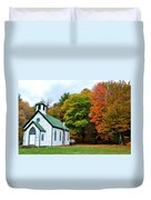 Church In The Wildwood Duvet Cover