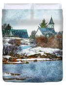 Church In Thingvellir Duvet Cover