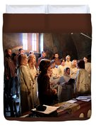 Church Duvet Cover by Milan Mirkovic