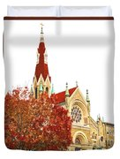 Church Next Door Duvet Cover